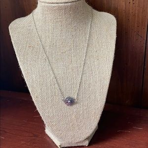 3/$10 Silver necklace with round pendant